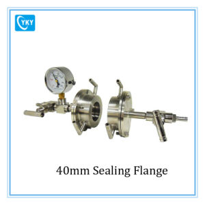 Laboratory Sealing Flange with Water Cool Jacket for 40mm / 42mm Dia. Tube Furnace pictures & photos