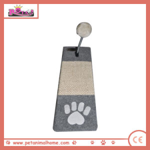 39 X 13cm Cute Paw Printed Sisal Cat Scratching Pad with Toy pictures & photos