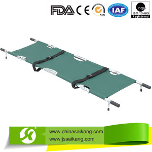 Aluminum Alloy Folding Patient Transfer Stretcher, Hospital Folding Stretcher pictures & photos