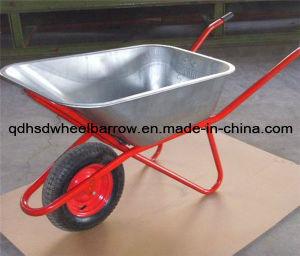 Large Capacity Deep Tray & Durable Wheelbarrow Wb6418 for Russia Market