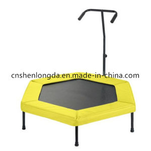 Sld38′′ Polygon Fitness Trampoline Trampoline with Handrail pictures & photos