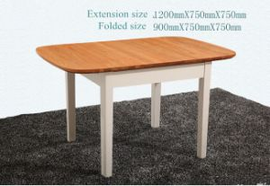 New Design Extendable Solid Wood Dining Furniture Table and Chairs Set pictures & photos