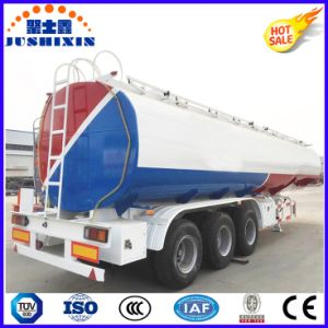 3 Axis 50cbm Carbon Steel Flammable Liquid Cargo Utility Tanker Truck Semi Trailer with 4 Silo pictures & photos