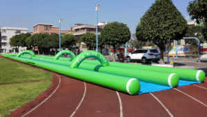 Best Popular Double Lane Inflatable Slide The City