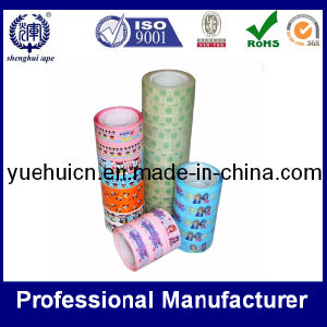 School Used Cartoon Pattern Stationery Adhesive Tape pictures & photos