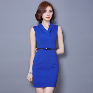 Fashion Summer Ladies Elegant Casual Bandage Lady Career Wear Dress pictures & photos