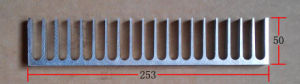 253mm Width Aluminum Profile Heat Sink 253mm*50mm*200mm Length Can Custom-Made pictures & photos