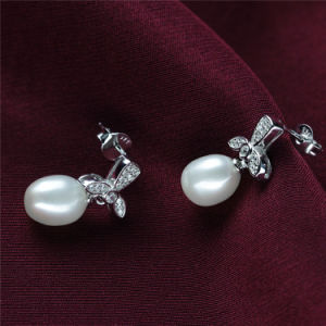 Sterling Silver Fashion Natural Freshwater Pearl Earring pictures & photos