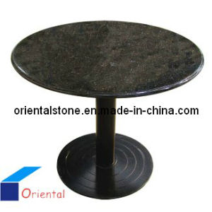 Black Grantie Round Stone Table for Furniture