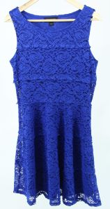 Stack-up Lace Ladies Dress with Knit Lining pictures & photos
