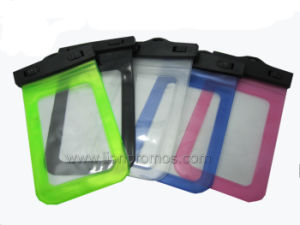 Travel Cell Phone PVC Waterproof Case Bag with Strap pictures & photos
