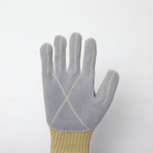 Kevlar Safety Gloves with Cowhide Sewing pictures & photos
