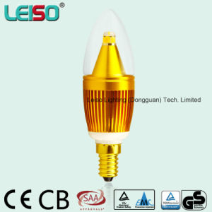5W Dome Shape 90ra CREE Chip Golden Candle Lamp (LS-B305-GB-B-CWW/CW) pictures & photos