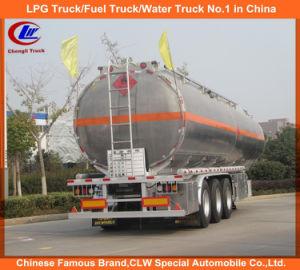 Adr DOT 3 Axle Stainless Steel 42000L Oil Tank Trailer Aluminum Alloy Fuel Tank Semi Trailer pictures & photos