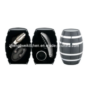 Oak Barrel Shaped Wine Gift Set (608012-D) pictures & photos