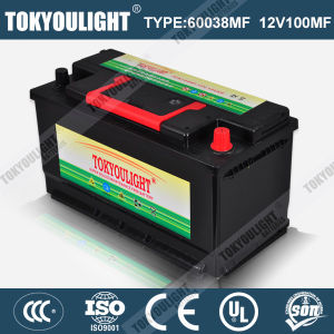 DIN Standard Maintenance Free Lead Acid Battery with 60038mf 12V100ah