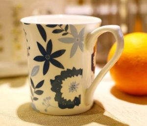 Beautiful Ceramic Coffee Cups with Flowers