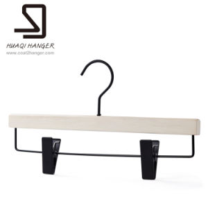 White Pants Hanger, Wooden Trousers Hanger, Cloth Hanger pictures & photos