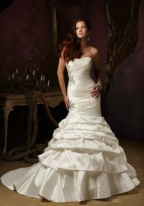 Strapless Fashion Ball Bridal Wedding Dress (WMA002) pictures & photos
