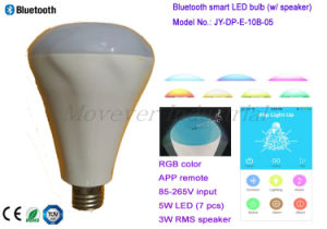 Support Mobile APP Smart Wireless Lighting Bulb with Stereo Speaker pictures & photos