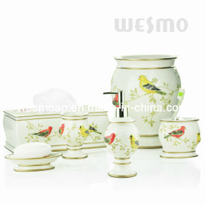 Pure Nature Style Polyresin Bathroom Set (WBP0810A) pictures & photos