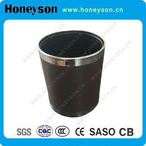 Double Layer Bin with PU Leather for Hotel Use pictures & photos