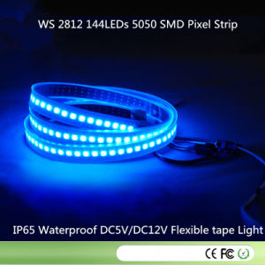 Ws2812 LED Digital Strip 144LEDs/M 144pixels/M, 2m/Roll, Black PCB, Waterproof Silicon Tube IP67, DC5V Input pictures & photos