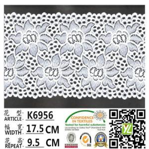 Chinese Wholesale Dyed Elastic Lace Fabric K6956