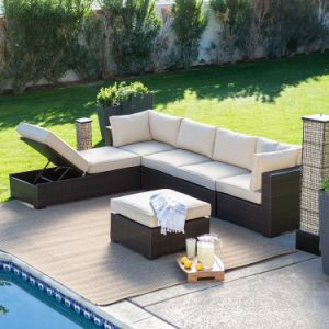 L Shape Outdoor Leisure Sofa Garden Furniture Rattan Sofa (S241) pictures & photos