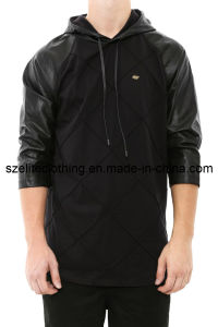 Promotional Custom Fitted Black Hoody (ELTHSJ-144) pictures & photos