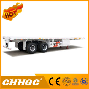 Fuwa Axle 40FT 2 Axles Flatbed Semi Trailer for Sale pictures & photos