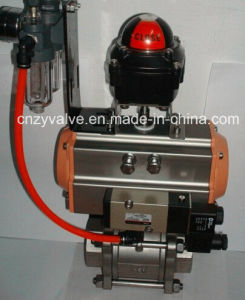 Pneumatic 1000wog Thread 3PCS Ball Valve pictures & photos