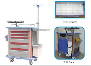 Hospital ABS Emergency Trolley/ Medical Trolley pictures & photos