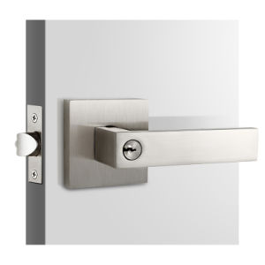 High Quality Zinc Alloy Rose Handle Lever Set Door Lock for Privacy Passage and Dummy pictures & photos