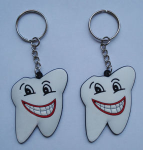 Slicone Key Ring, Tooth Shape Keychain (GZHY-KA-011) pictures & photos