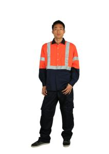 Wholesale Work Uniform Reflective Tape Hi Vis Shirt pictures & photos