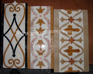 Marble Stone Waterjet Border Tile pictures & photos