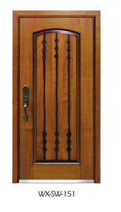 Competitive Steel Wooden Door (WX-SW-151) pictures & photos