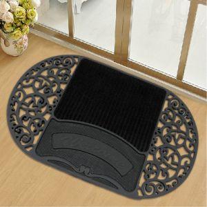 Heavy Duty Decorative Front Door PVC Plastic Welcome Home Entrance Door Floor Mats pictures & photos
