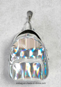 New Designer School Bag Reflective PU Material Backpack pictures & photos