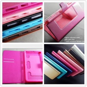 """Texture PU Leather + Silicone 7"""" Tablet Used Universal Wallet Case pictures & photos"""