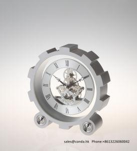High Quality Metal Desk Clock K3017 pictures & photos