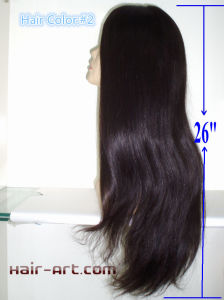 "Full Lace 100% Human Hair Silk Top Kosher Jewish Wigs-26"" pictures & photos"