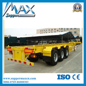 Best Selling 3 Axle Container Trailer 40FT Container Trailer Price pictures & photos
