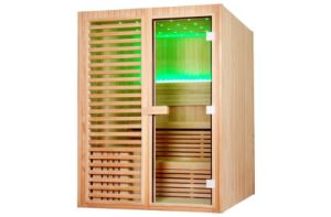 Mini Sauna House/ Red Cedar Wood Top Quality Dry Sauna Cabine M-6038 pictures & photos