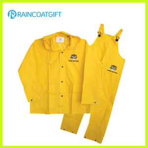 Waterproof Yellow PVC/Polyester PVC Men′s Rainsuit Rpp-030A pictures & photos