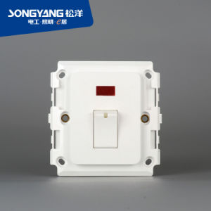 Electric Switch White Series 1gang 25A Wall Switch pictures & photos