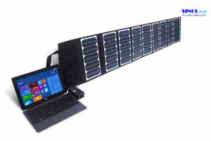 High Effi. 23.5% Sunpower Folding Solar Panel Charger 60W Double Output 15V/5vportable Solar Charger for Laptop Tablet PC Car Battery Cell Phones pictures & photos