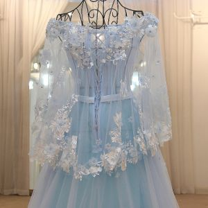 2017 Aqua A Line Sweetheart Beaded Long Sleeve Sexy Tulle Cocktail Dress pictures & photos