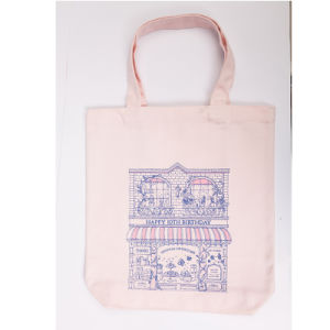 New Arrival Canvas Shopping Bag, Square Bottom Bag with Zipper, Cotton Shopping Bag